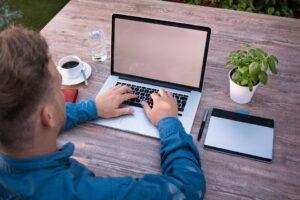 Business Man, Laptop, Work, Outdoor, Home Office