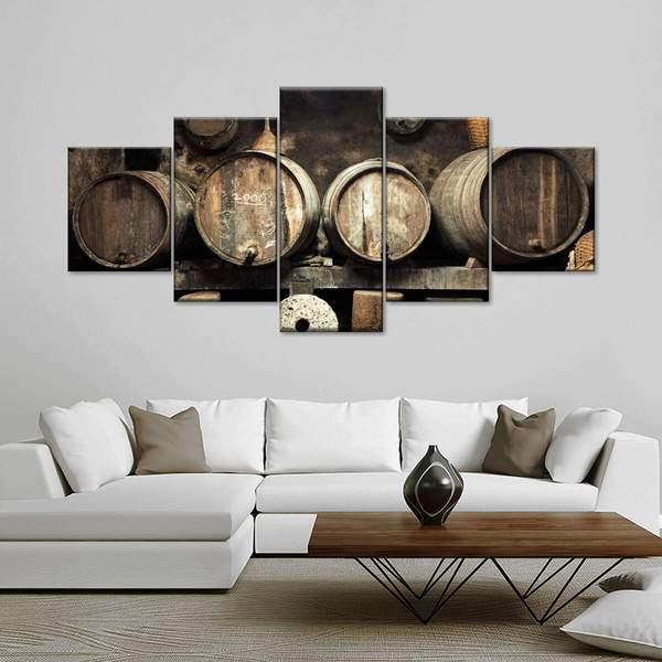 Old Wine Cellar Multi Panel Canvas Wall Art
